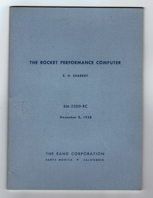 Rand Rocket Performance Computer 3