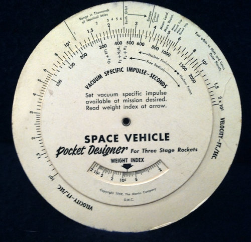 Space Vehicle Pocket Designer for Three Stage Rockets  Martin Co. 1959 02