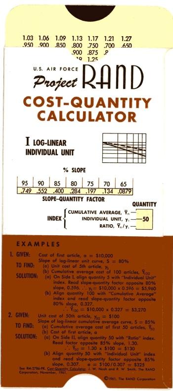 RAND Cost-Quantity Calculator 1