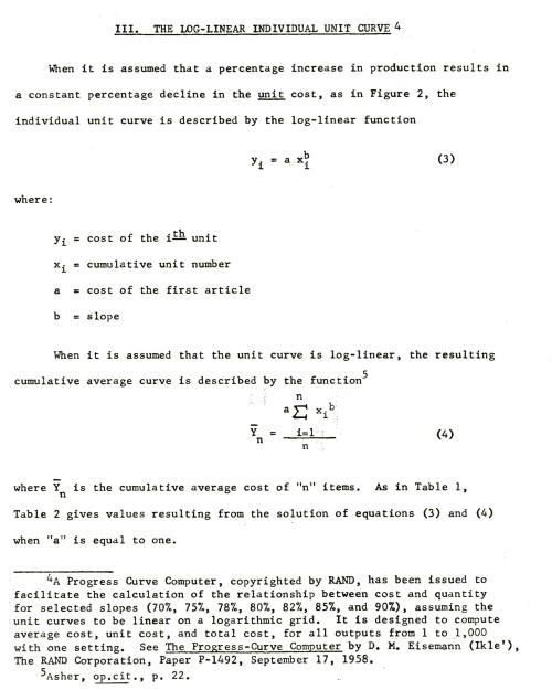 RAND Cost-Quantity Calculator 3