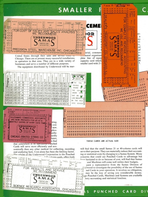 Underwood Samas Punched Card Brochure 04