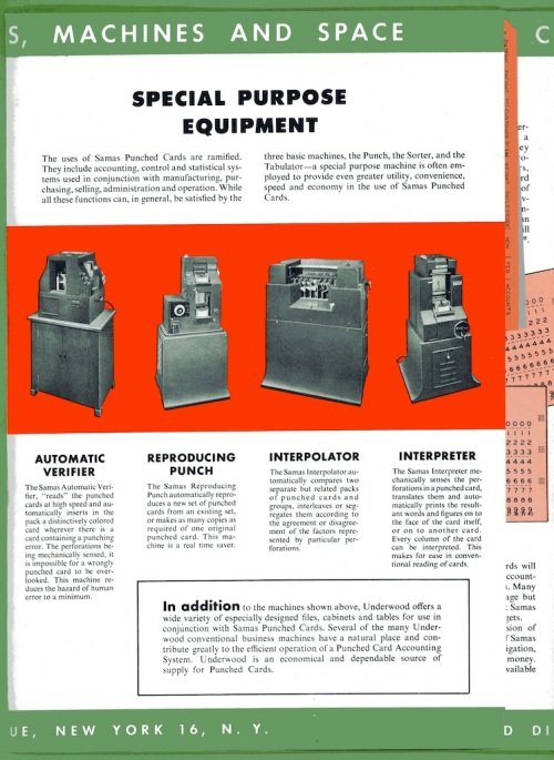 Underwood Samas Punched Card Brochure 06