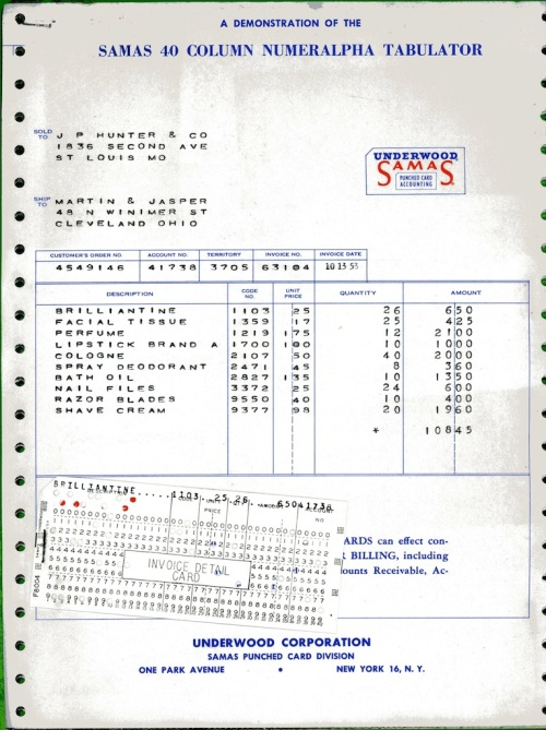 Underwood Samas Punched Card Brochure 09