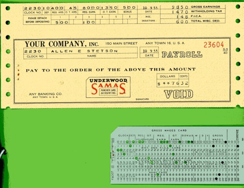 Underwood Samas Punched Card Brochure 11
