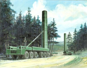 SS-20 missile launch vehicle