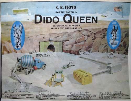 Dido Queen Nuclear Test Certificate 1973