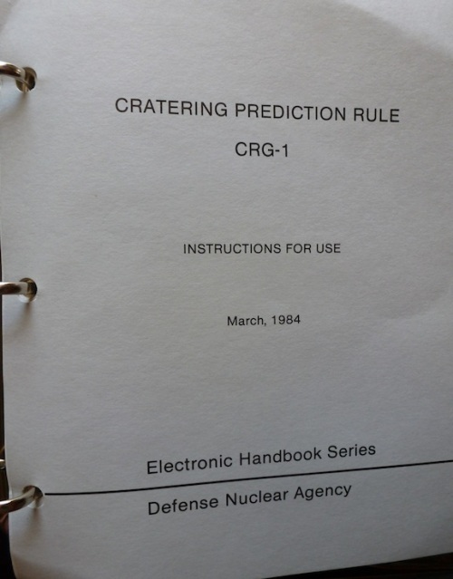 Defense Nuclear Agency Cratering Prediction Rule 30