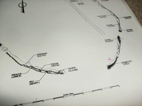 MAPs OF BIKINI & ENIWETOK ATOLLs test sites 4