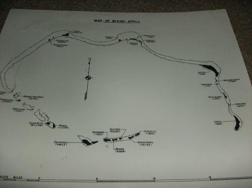 MAPs OF BIKINI & ENIWETOK ATOLLs test sites 5