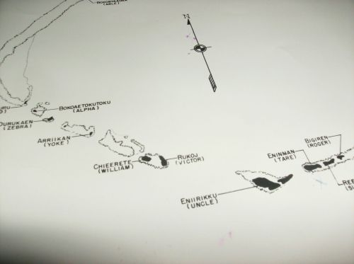 MAPs OF BIKINI & ENIWETOK ATOLLs test sites 7